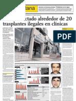 Detectan alrededor de 20 casos de transplantes ilegales en clínicas de Lima