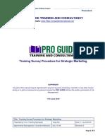 Training Survey Procedure for Strategic Marketing