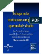 69950-Trabajar en Las Instituciones Europeas 2012