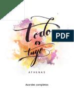 TODO ES TUYO (Acordes Completos)
