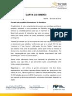 Carta de Niteroi 2018