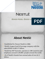 Porter's Value Chain Model of Nestle