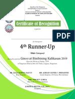 Major Awards Certificates