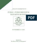 Tentative Budget - Final Friday Nov 12 Rev