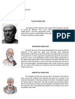 Good Life in Philosophy