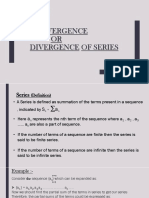 Convergence and Divergence of Series