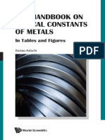 Hand Book on Optical Constant of Metal