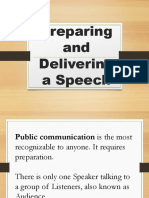 Preparing and Delivering a Speech