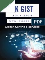 IASbaba Yojana Kurukshetra Gist July 2019