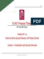 Finance Theory