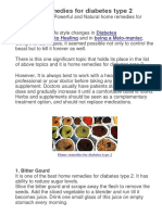 20 Home Remedies for Diabetes Type 2