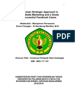 Rangkuman Strategic Approach in Social Media Marketing and a Study on Successful Facebook Cases