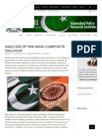 Analysis of Pak-India Composite Dialogue _ Islamabad Policy Research Institute