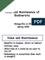 Biological Value&Maintenance