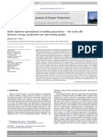 Multi-objective optimization of milling parameters e the trade-offs between energy, production rate and cutting quality