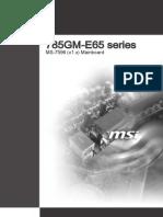 MS-7596 (v1.x) Mainboard