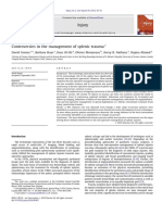 Controversies in the Management of Splenic Trauma