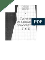 TALLERES DE EDUCACION DEMOCRATICA