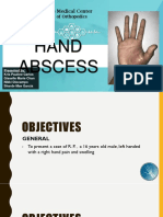 Ortho Report - Hand abscess