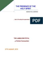 The Presence of the Holy Spirit by Samson Paul Adeniran