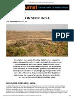 The Buddha in Vedic India