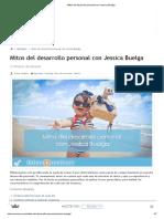 Mitos Del Desarrollo Personal Con Jessica Buelga