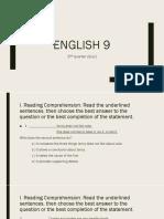 English 9 Quiz (2nd Quarter)