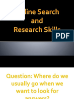 Online Search and Research Skills