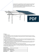 Screw Pile Foundation Solar Mounting Structure