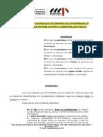 Roteiro de Atuação Impedimentos Na Contratação de Empresas de Parentes de Agentes Públicos Prefeito Vereador