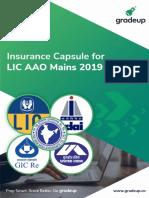 Insurance Capsule for Lic Aao Main Exam 2019-23