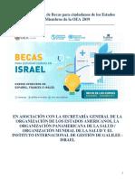 Convocatoria becas OEA 2019