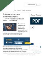Treino Para Quem Tem Problemas Lombares - Musculacao.net