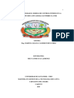 Guion de Integracion Del Modelo de Control Interno de La i.e.r San Pedro Claver