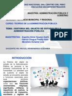 HISTORIA DEL OBJETO DE ESTUDIO DE LA ADMINISTRACIÓN PÚBLICA