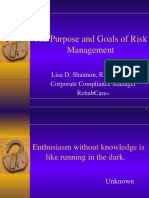 The Purpose and Goals of Risk Management -Converted