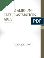 Corpus Alienum, Status Astmaticus, Ards