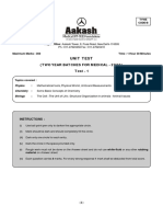 Aakash test paper