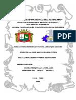 Informe de Lab. de Control de Procesos 1