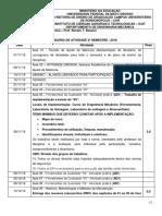 Calendário de Atividades 2º_2018 MANTENÇÃO