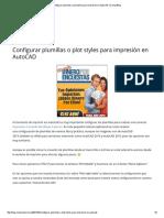 Configurar Plumillas o Plot Styles Para Impresión en AutoCAD