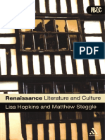 (Introductions to British Literature and Culture) Lisa Hopkins, Matthew Steggle - Renaissance Literature and Culture-Bloomsbury Academic (2007)