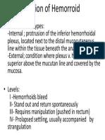 Clasification of Hemorroid