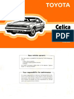 1985 Toyota Celica Owner's Manual (No Hyperlinks)