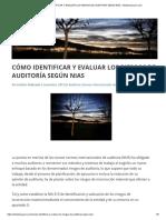 Cómo Identificar y Evaluar Los Riesgos de Auditoría Según Nias - Estebanuyarra.com