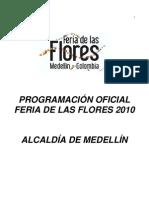 Programacion Oficial Feria Flores Dia a Dia 2010