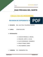 Informe Trabajo de Campo - Expediente Tecnico