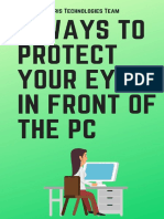 Tricks to protect your eyes in front of the PC