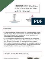 Damage Tolerance of SiCf-SiCm Composite Plates