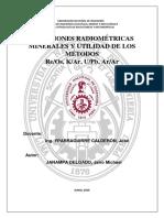 Dataciones Radiométricas Minerales y Utilidad de Los Métodos